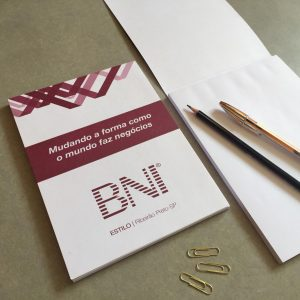 Impressão de Bloco de Anotações com capa fixa