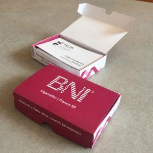 Impressão de Caixinha para cartões BNI
