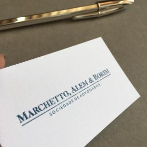 Impressão Cartão com Relevo Americano