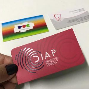 Impressão Cartão com Verniz Localizado