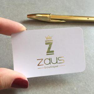 Impressão de Cartão com hot stamping dourado