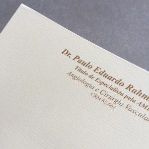 Impressão Receituário em papel vergê