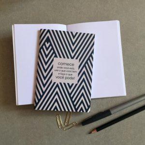 Impressão de Caderneta A6 ou A5 com grampo