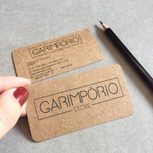 Impressão de Cartão com papel kraft