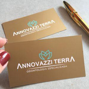 Impressão de Cartão com tinta especial dourada