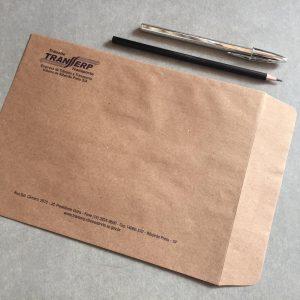 Impressão de Envelope Kraft